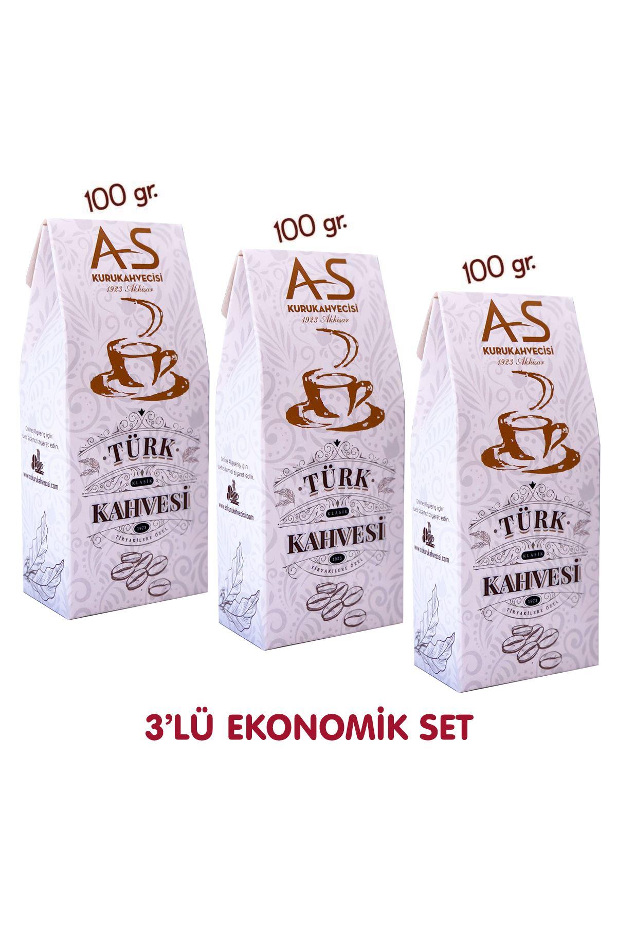 3'lü Klasik Türk Kahvesi Ekonomik Set