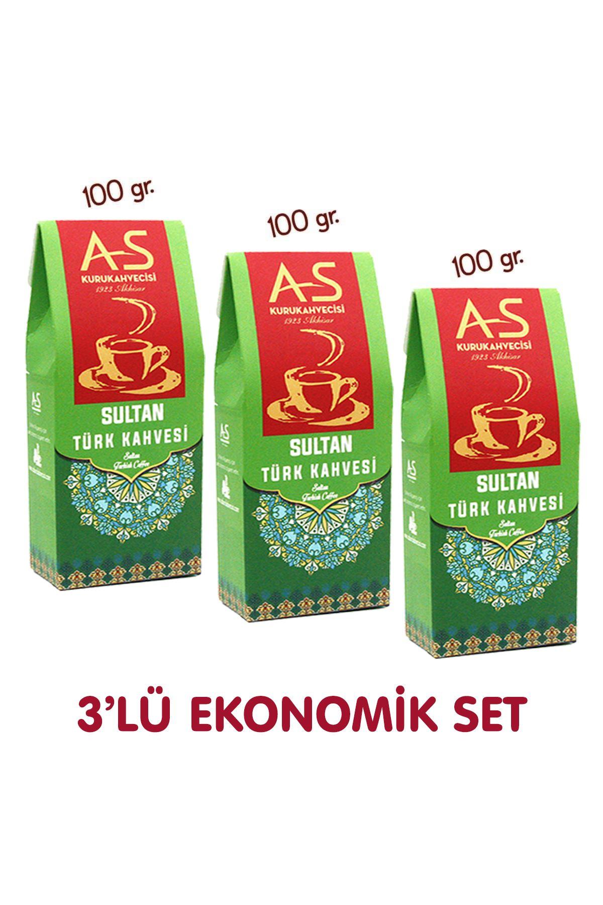 3'lü Sultan Türk Kahvesi Ekonomik Set