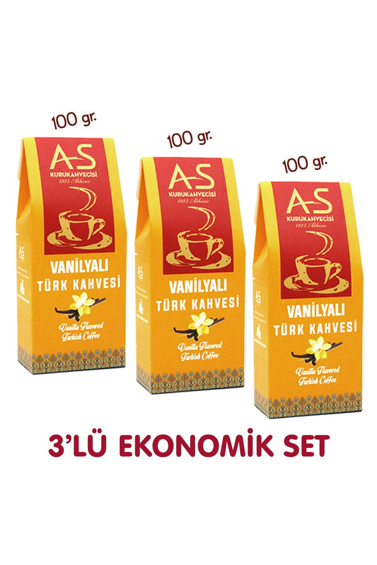 3'lü Vanilyalı Türk Kahvesi Ekonomik Set
