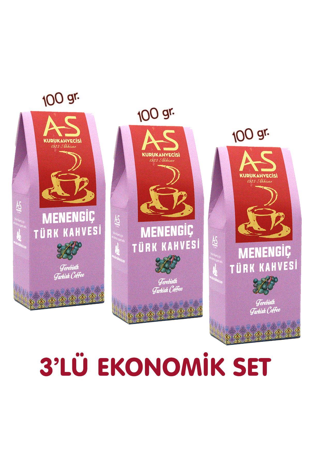 3'lü Menengiç Türk Kahvesi Ekonomik Set