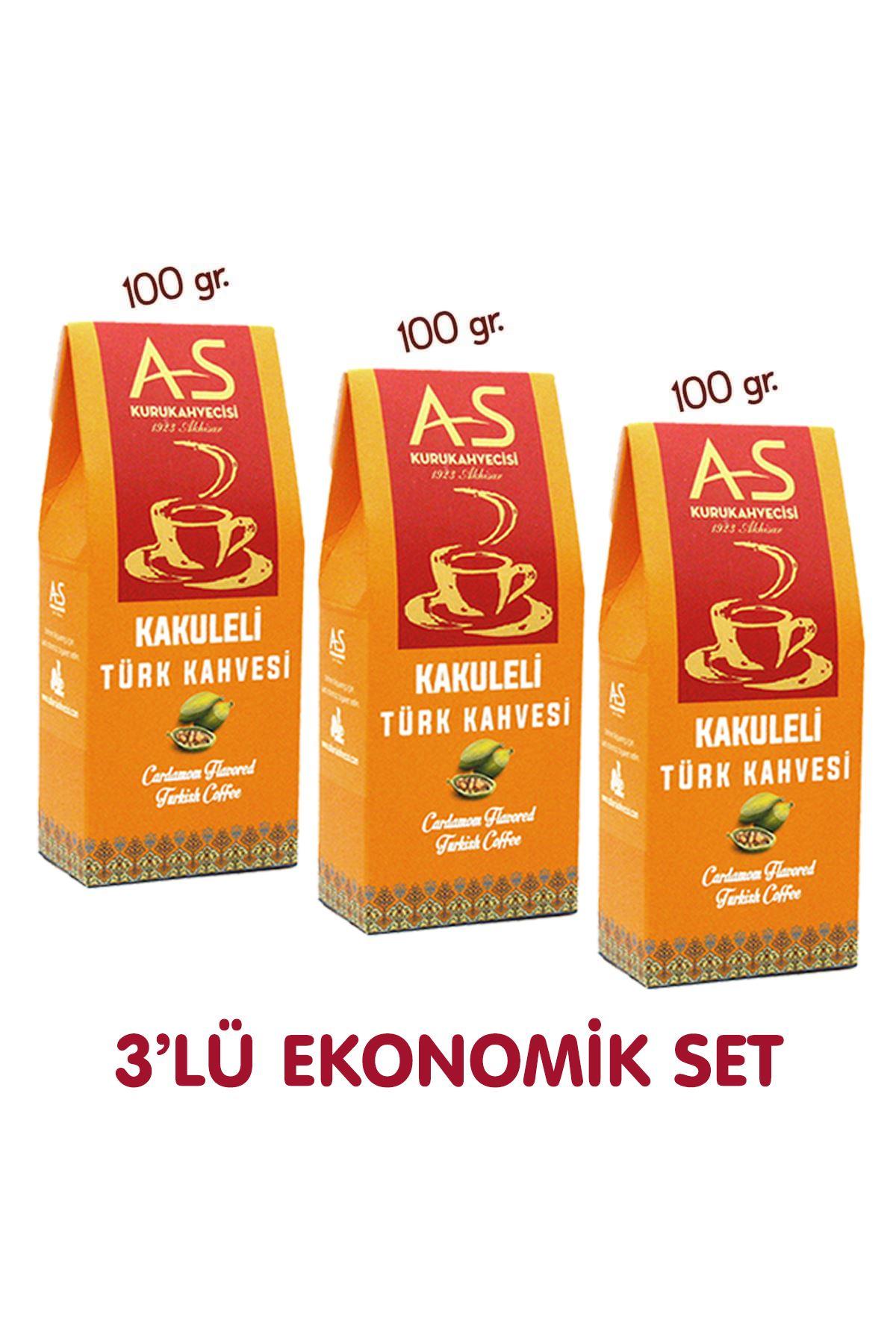 3'lü Kakuleli Türk Kahvesi Ekonomik Set