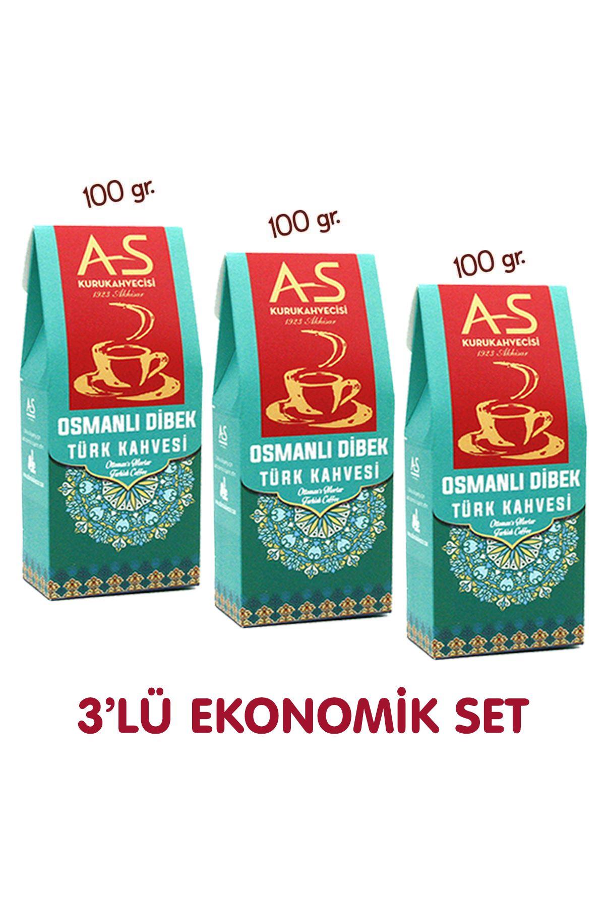 3'lü Dibek Türk Kahvesi Ekonomik Set