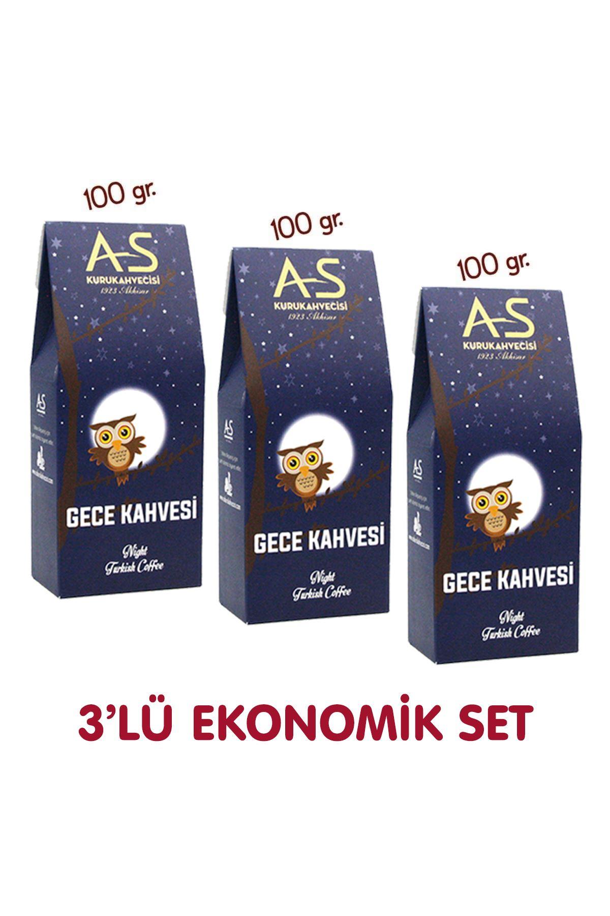3'lü Gece Türk Kahvesi Ekonomik Set
