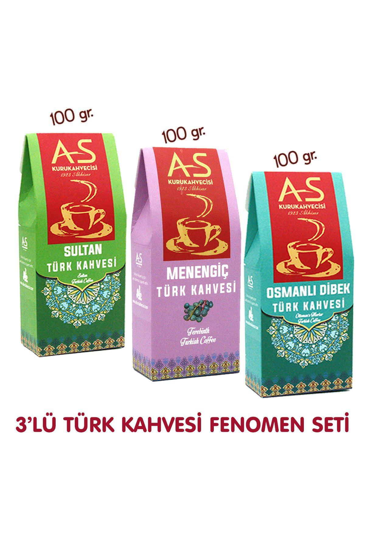 3'lü Türk Kahvesi Fenomen Seti (Sultan,Menengiç,Dibek)