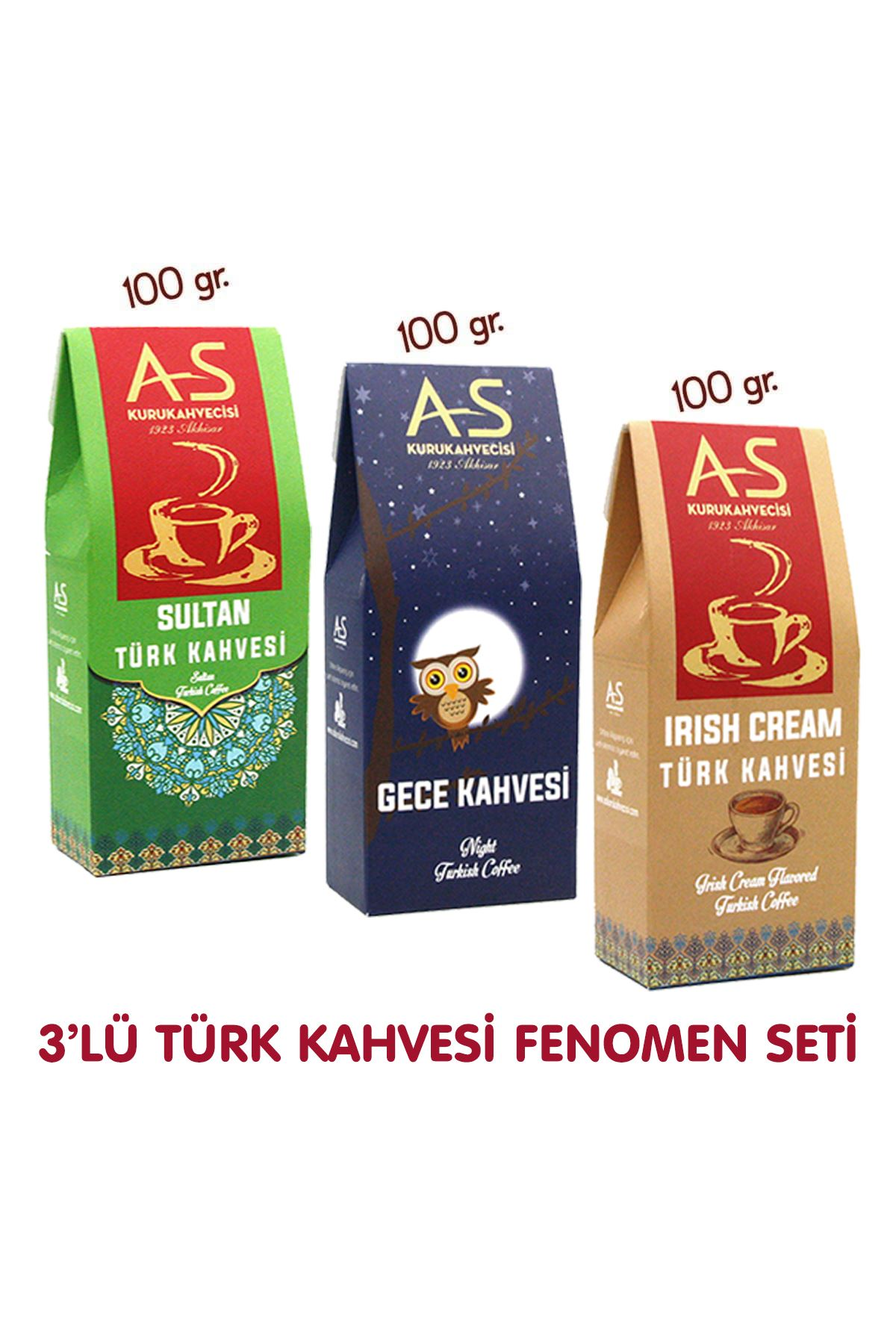 3'lü Türk Kahvesi Fenomen Seti (Gece,İrish,Sultan)