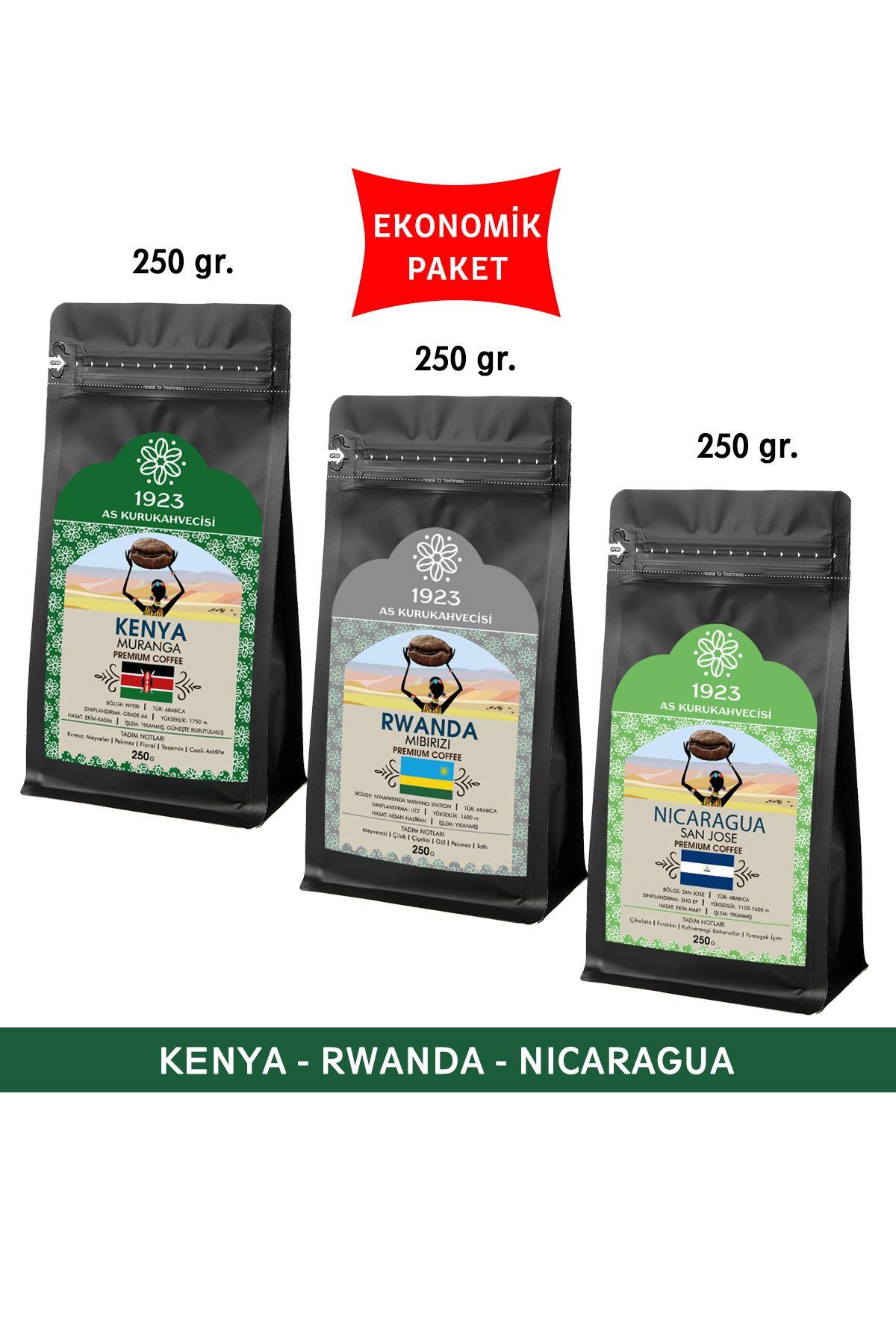 1923 Filtre Kahve Seti 250 gr. (Kenya, Rwanda, Nicaragua)