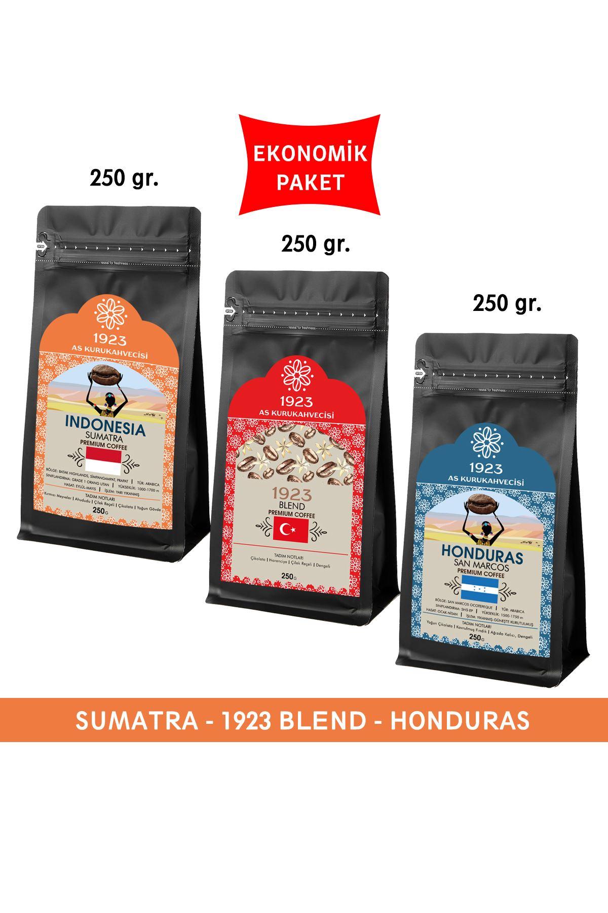 1923 Filtre Kahve Seti 250 gr. (Sumatra, Blend, Honduras)