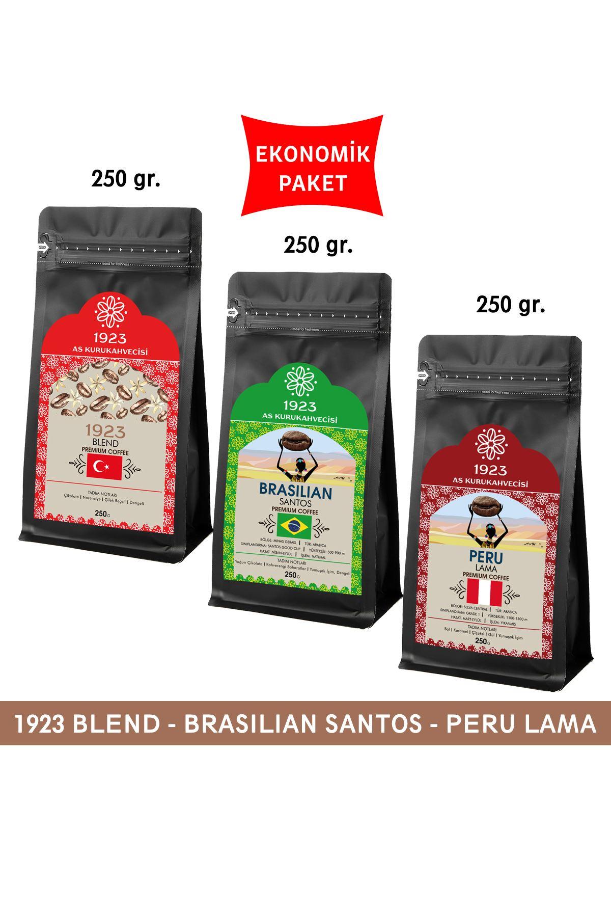 1923 Filtre Kahve Seti 250 gr. (Blend, Santos, Peru)