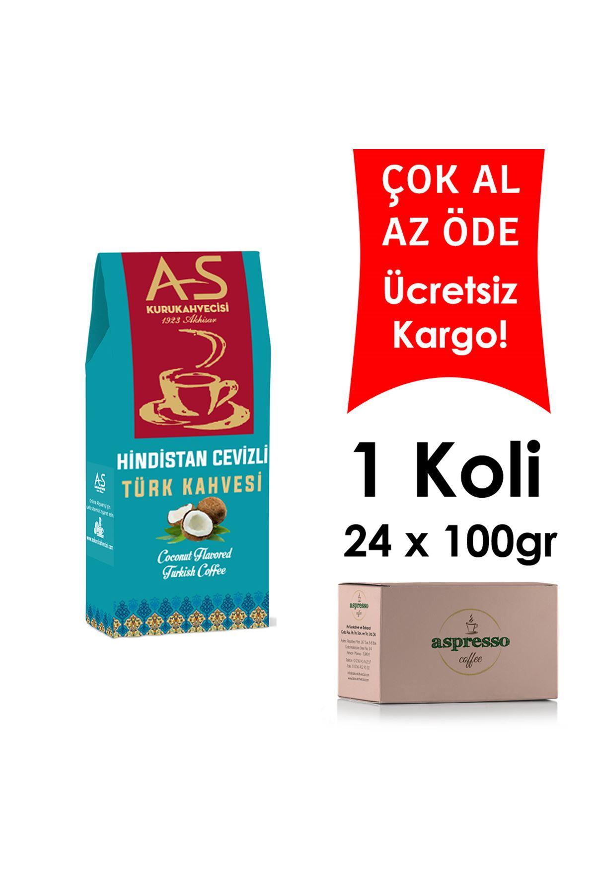 Hindistan Cevizli Türk Kahvesi 100 gr. Kutu x 24 Adet