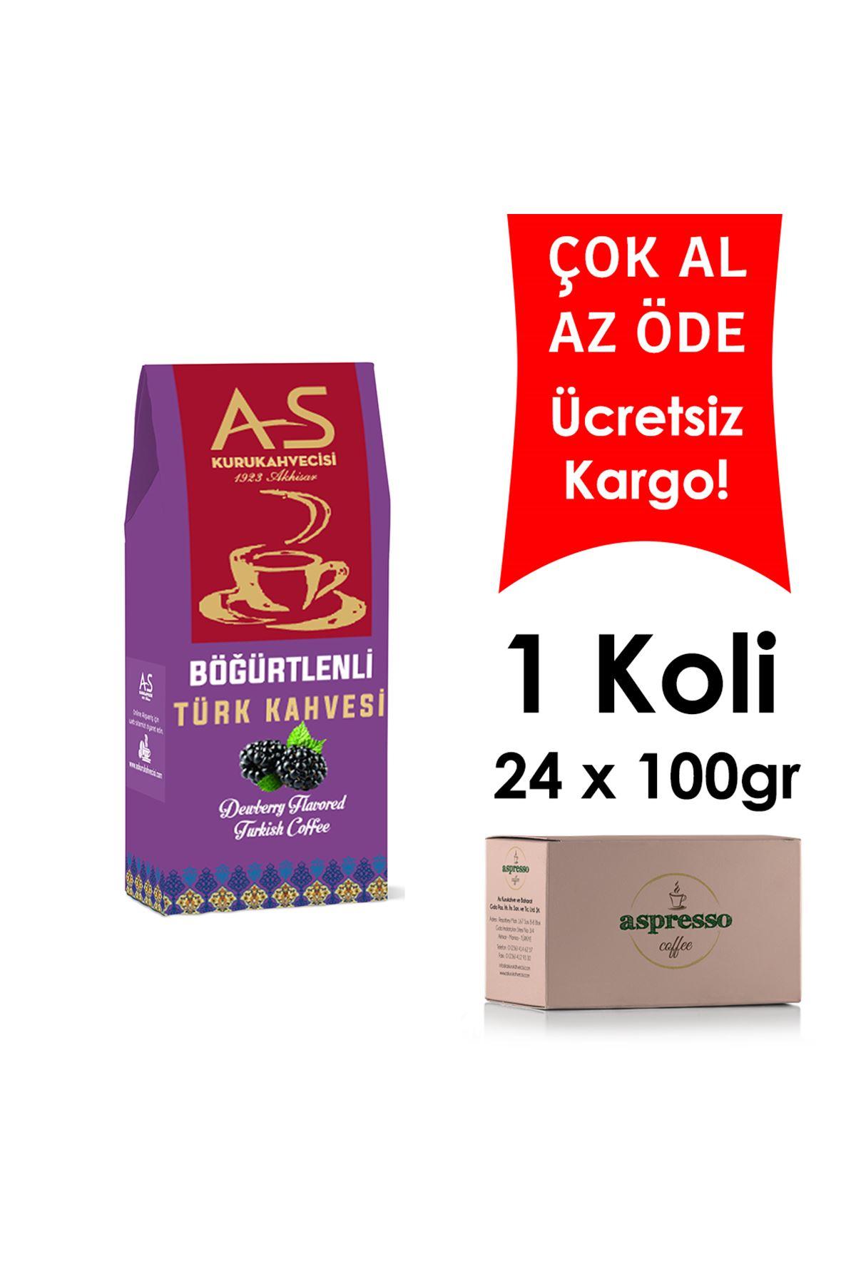 Böğürtlenli Türk Kahvesi 100 gr. Kutu x 24 Adet