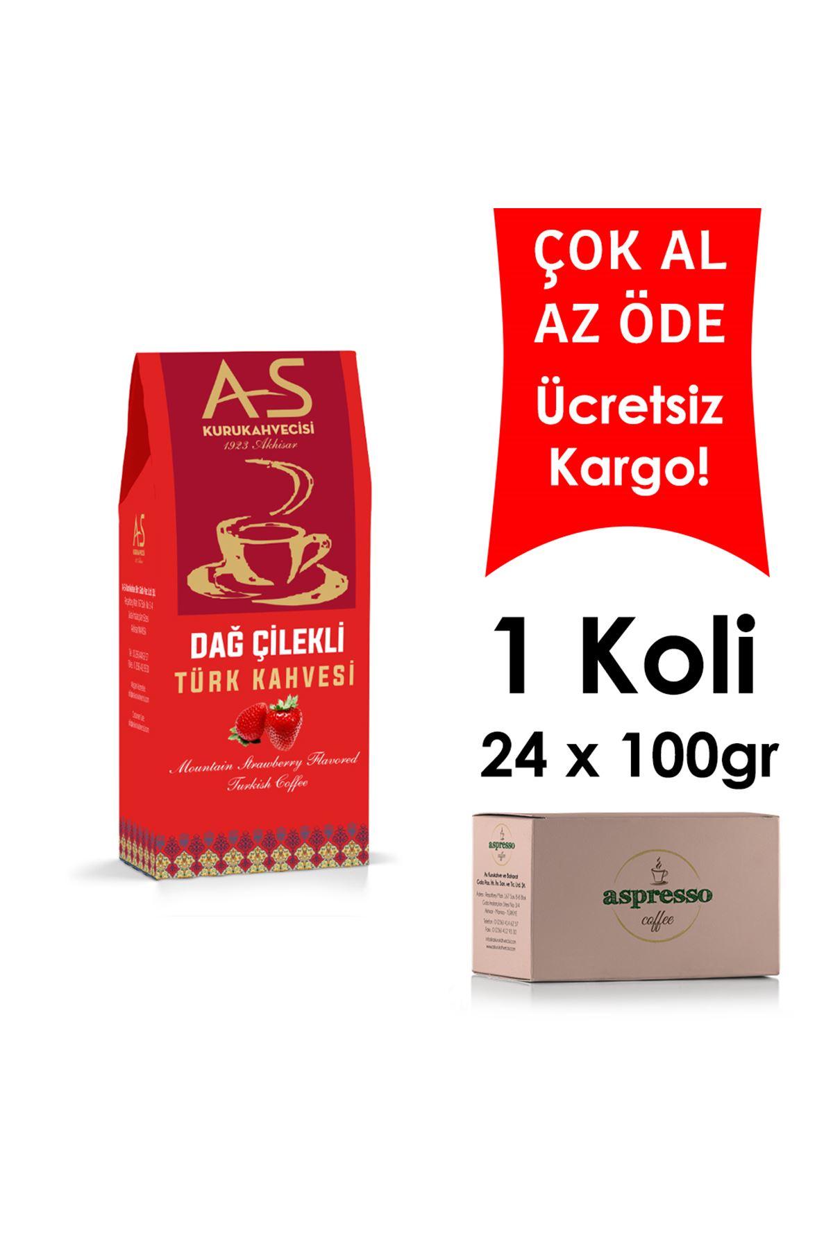 Dağ Çilekli Türk Kahvesi 100 gr. Kutu x 24 Adet