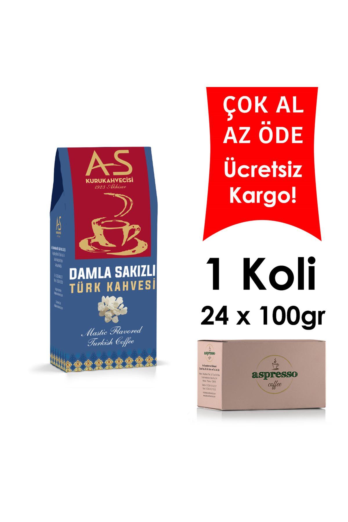 Damla Sakızlı Türk Kahvesi 100 gr. Kutu x 24 Adet