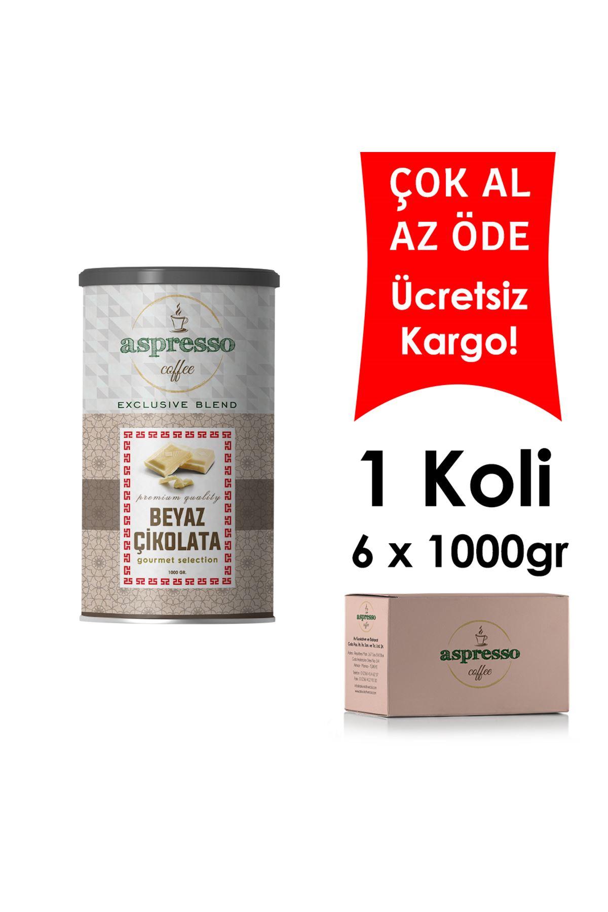 Beyaz Çikolata 1000 gr. x 6 Adet