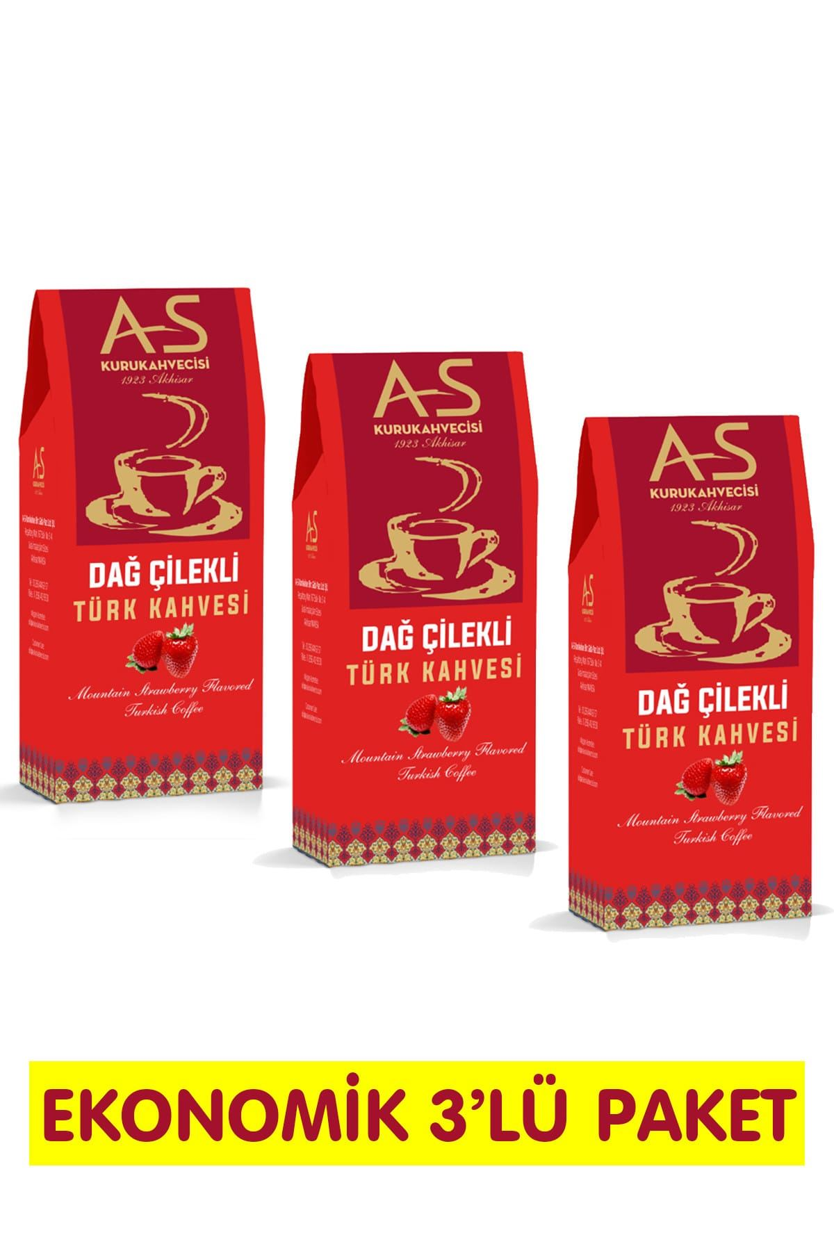 Dağ Çilekli Türk Kahvesi 100 gr. x 3 Adet