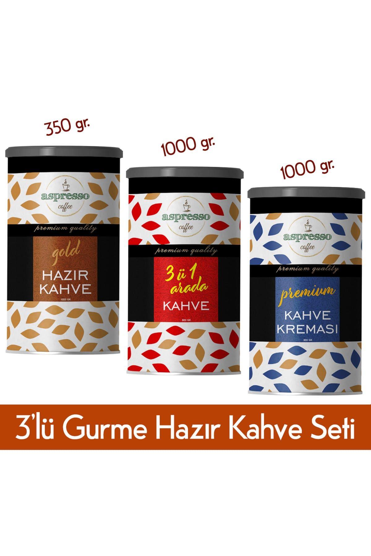 3'lü Hazır Kahve Gurme Seti(Gold,3ü1arada,KahveKreması)
