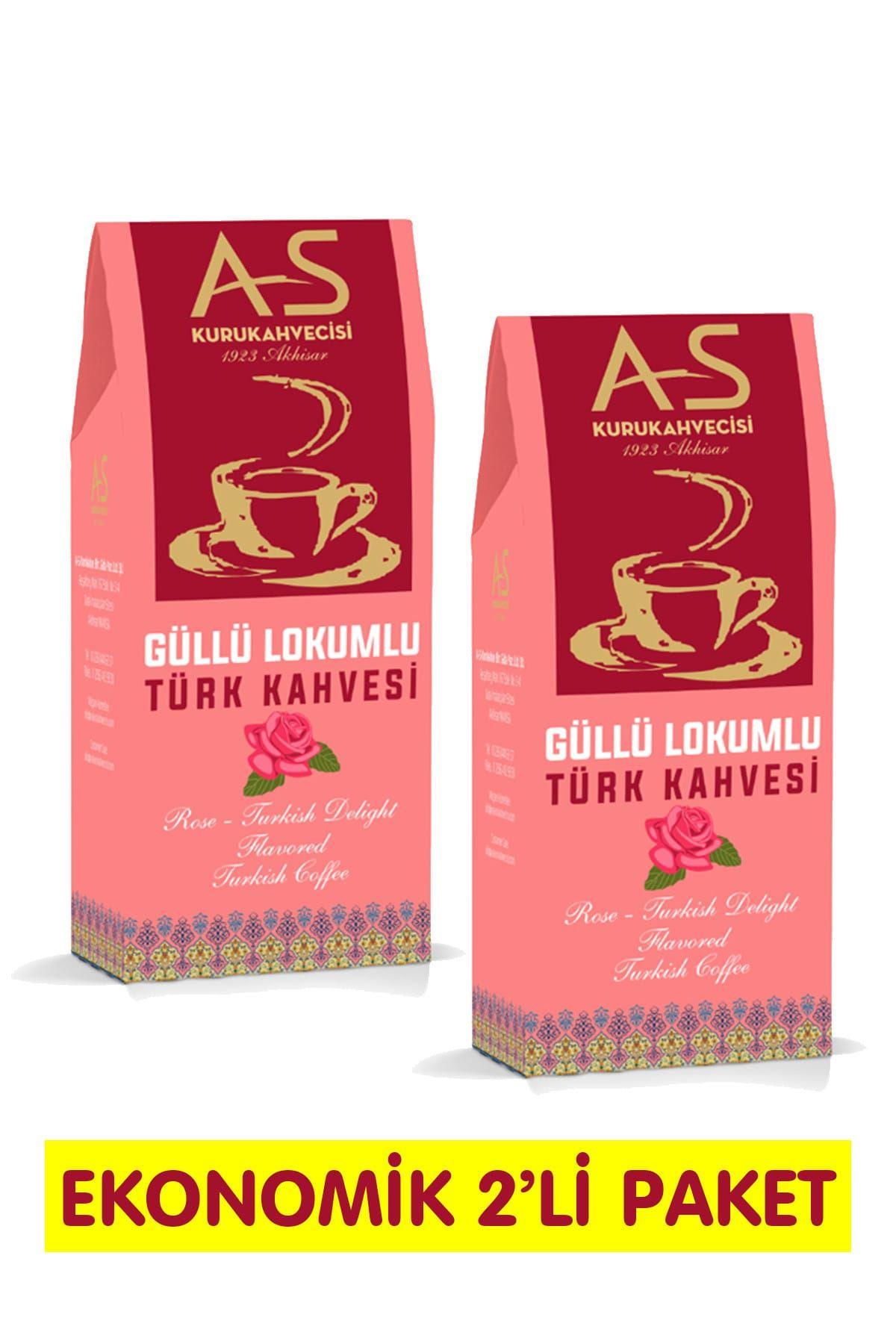 Güllü Lokumlu Türk Kahvesi 100 gr. x 2 Adet