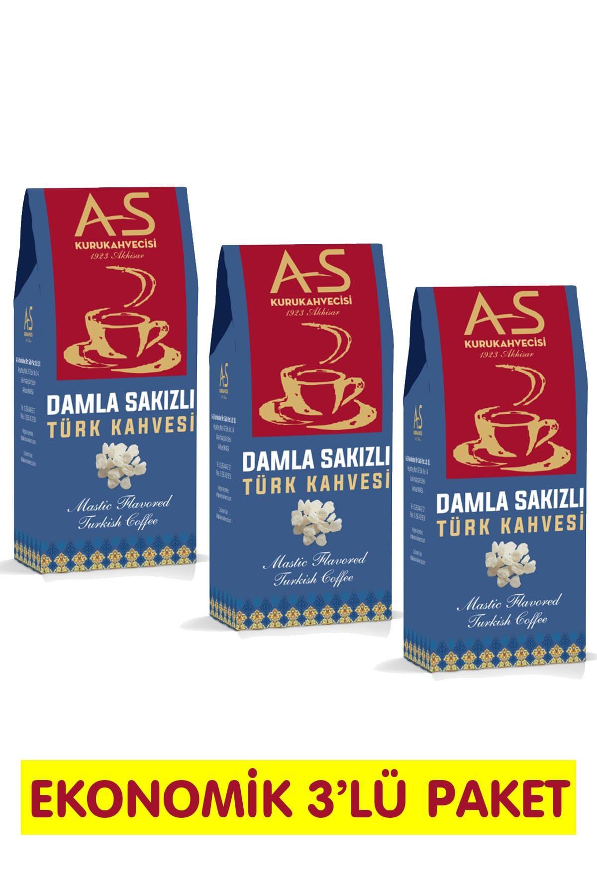 Damla Sakızlı Türk Kahvesi 100 gr. x 3 Adet