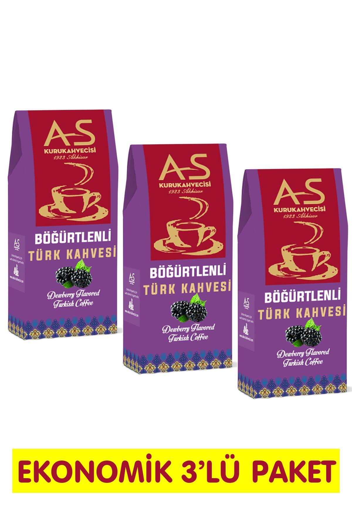 Böğürtlenli Türk Kahvesi 100 gr. x 3 Adet