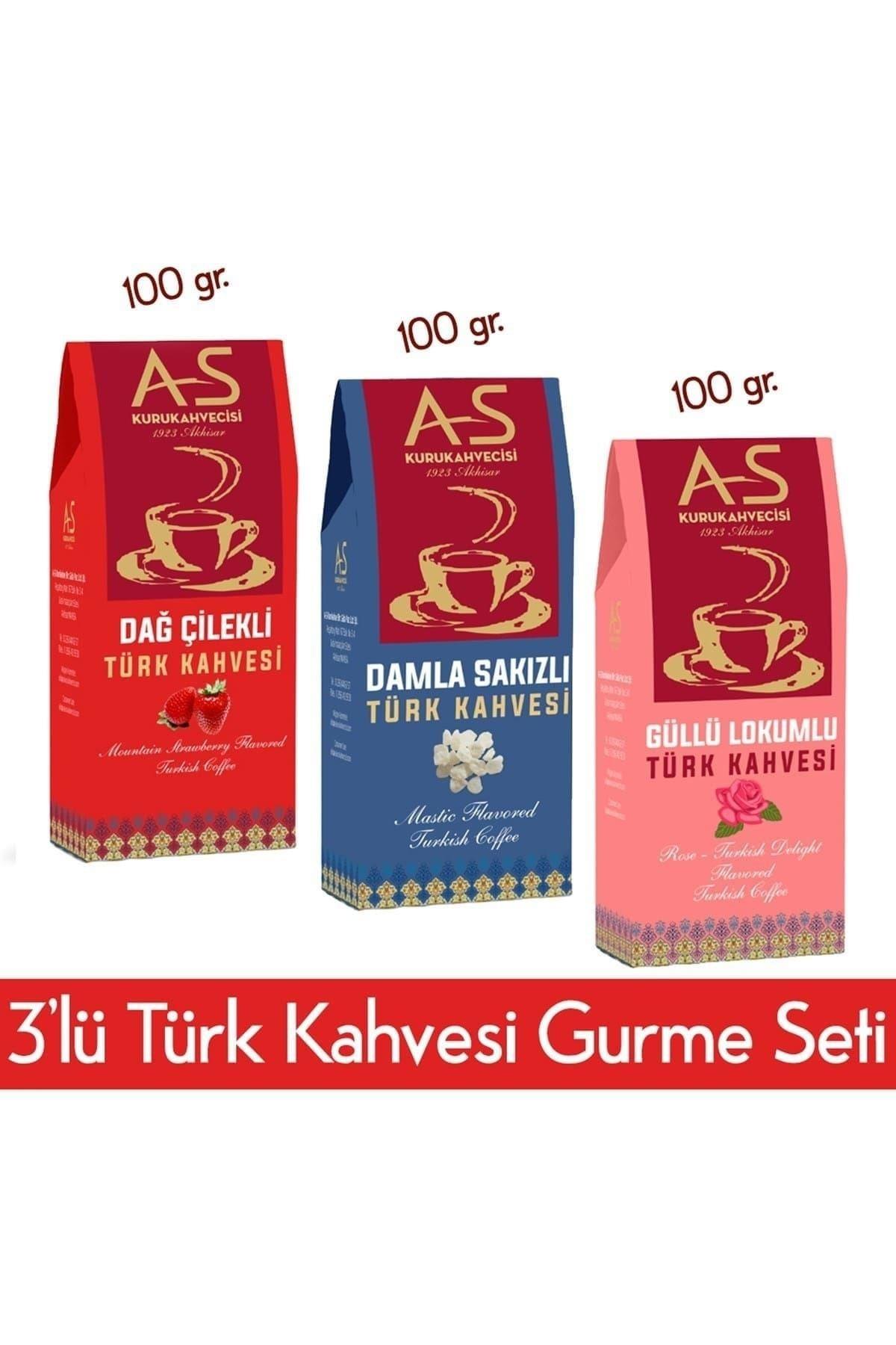 3'lü Türk Kahvesi Gurme Seti