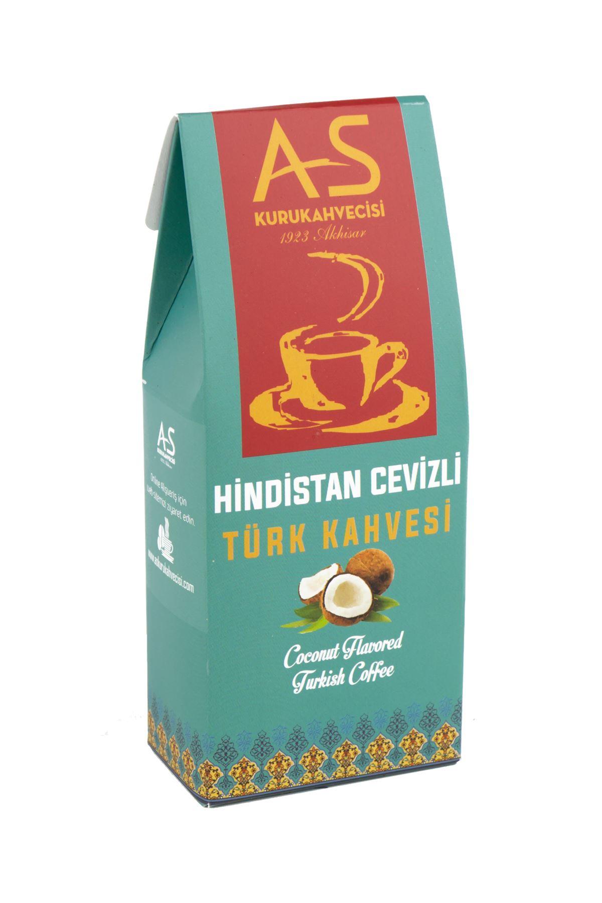 Hindistan Cevizli Türk Kahvesi 100 gr. Kutu