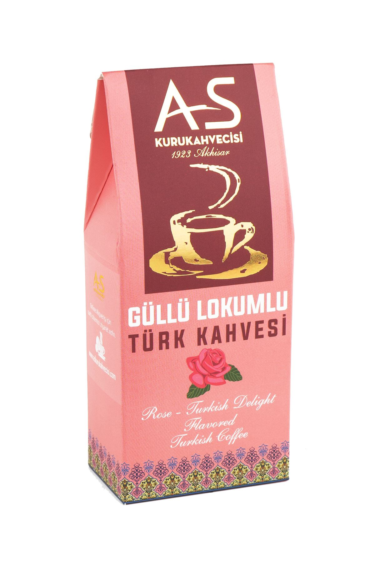 Güllü Lokumlu Türk Kahvesi 100 gr. Kutu